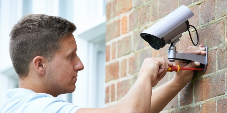 Installing home security camera