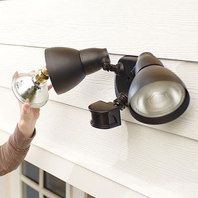 how to install outdoor motion sensor lights